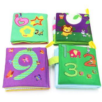 4 стиля, Мягкие развивающие книжки, тканевые книги, шуршит звук, Младенческая обучающая погремушка в коляску, игрушка для новорожденных, кро...