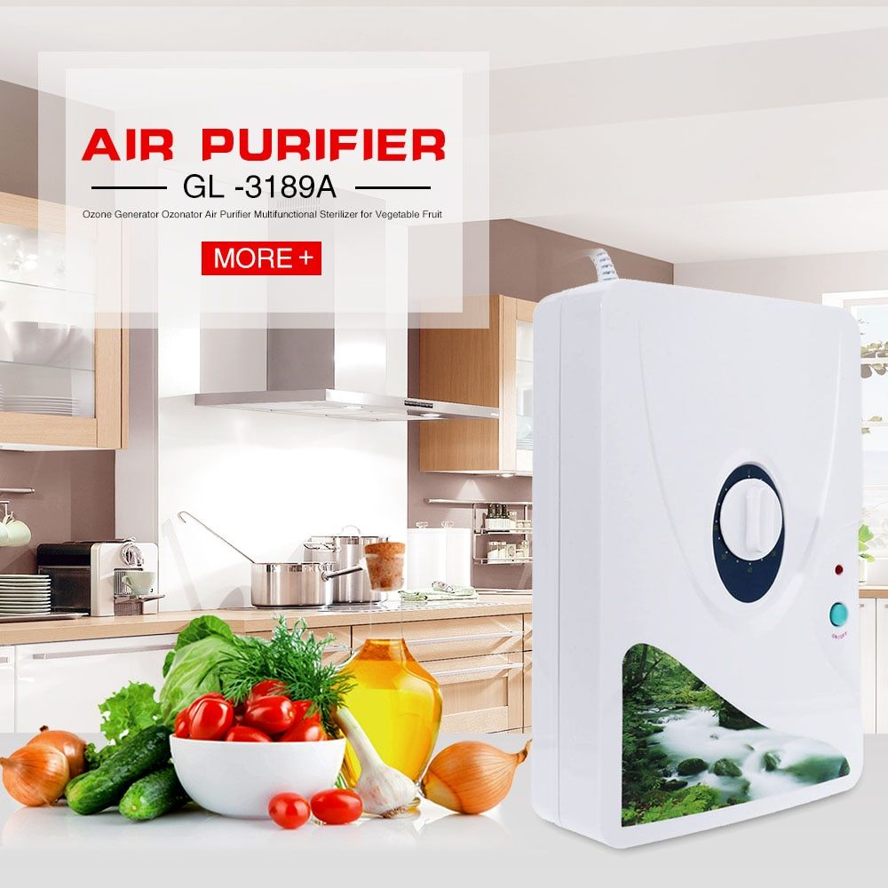 2016 New Arrival Air Purifier Portable Ozone Generator Multifunctional Sterilizer Air Purifier for Home Vegetable Fruit Purify