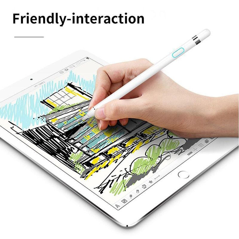 Stylus pen for iPad Rechargeable high precision stylus compatible Android & IOS Apple equipment Pencil Capacitive touch pen