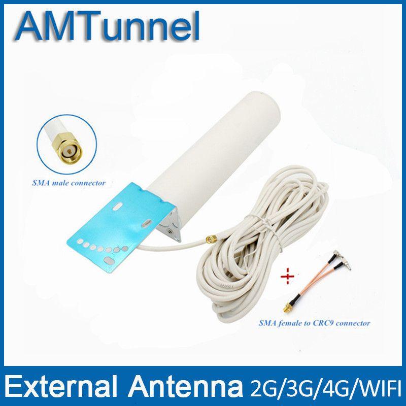 4G LTE antenne 3G 4G externe antennna sma-stecker mit 10 mt kabel und sma-buchse auf CRC9 anschluss für 3G 4G router modem