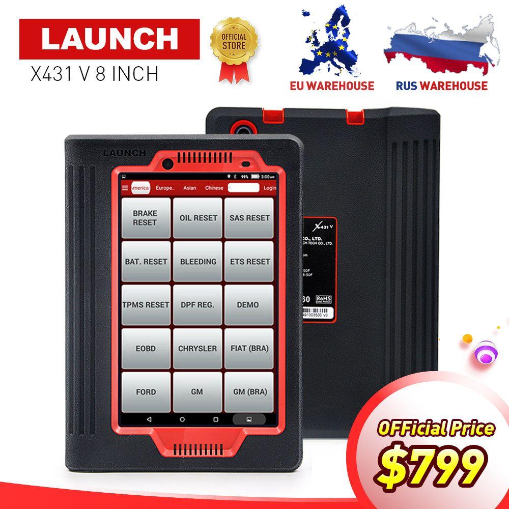 LAUNCH X431 V 8INCH car diagnostic tool for 12V gasoline&diesel full ECU system X-431 V/Pro mini auto Scanner 2 year free update
