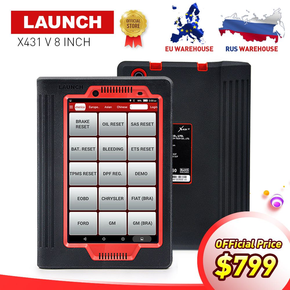 LAUNCH X431 V 8INCH car diagnostic tool for 12V gasoline&diesel full ECU system X-431 V/Pro mini auto Scanner 2 year free update