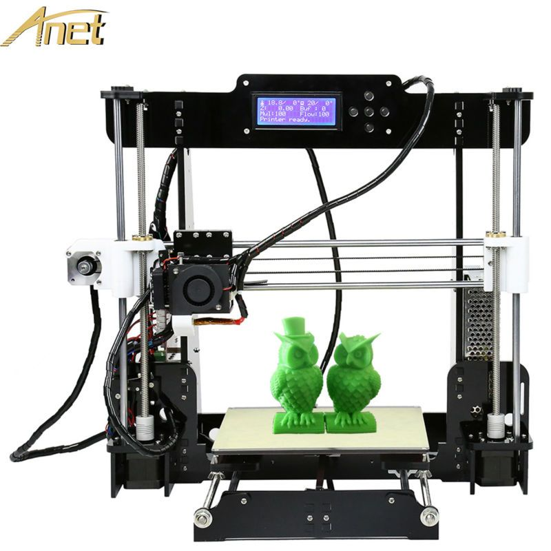 Cheap Anet A6 A8/A6 Auto Leveling A8 High Precision Reprap Prusa i3 DIY 3D Printer Kit With 12864/2004 LCD Free 10m Filament