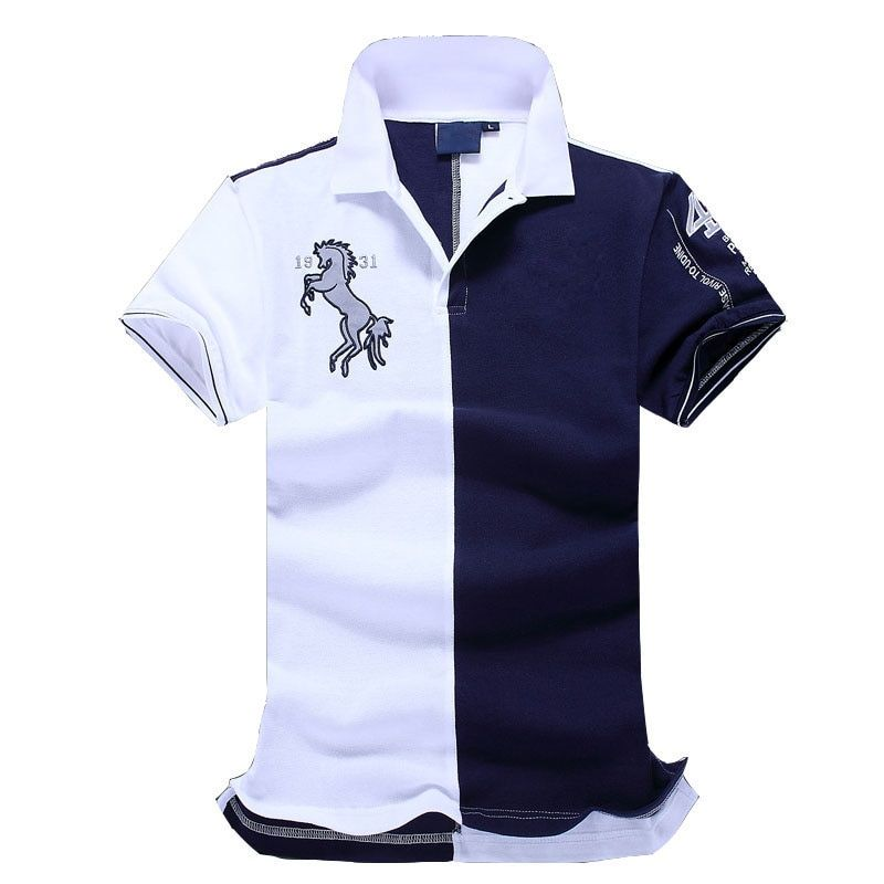 Новинка 2017 года Топ хорошее качество вышивки Для мужчин бренд-одежда поло Рубашки для мальчиков модный бренд Для мужчин футболка-поло одежд...