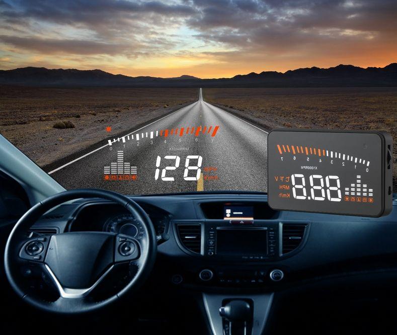 XYCING X5 3 inch HUD Car Head Up Display OBD2 Vehicle <font><b>Driving</b></font> Speedometer Car Windscreen Projector KMH MPH Display Speed Alarm