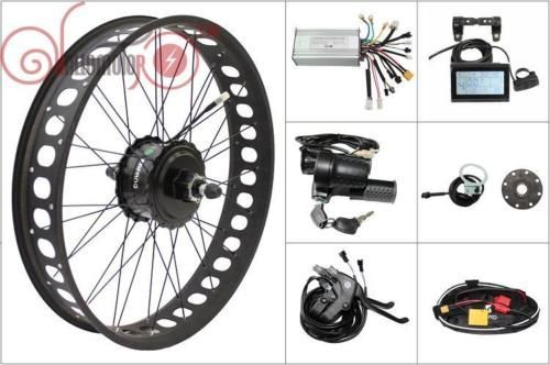 Kostenloser Versand Elektrische Fahrrad Bafang Motor 48 v 750 watt Freilauf Kassette Fett Reifen Hinten Conversion Kits Controller LCD3 175mm 190mm