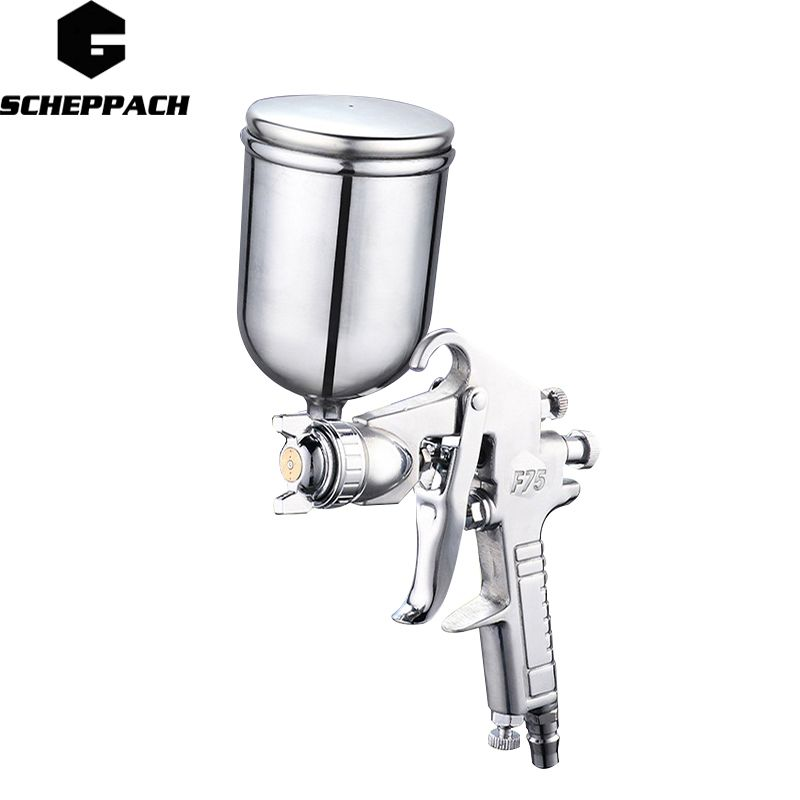 SCHEPPACH 400ML Professional Pneumatic Spray Gun Airbrush Sprayer Alloy Painting Atomizer Tool With Hopper For Painting Cars
