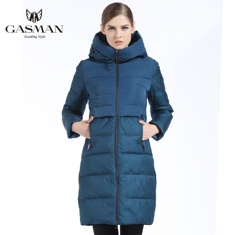 GASMAN 2018 Winter Outwear Coat Long Women Bio Down Parka Thickening Hooded Jacket Down For Women Slim Style Cloth Winter Women