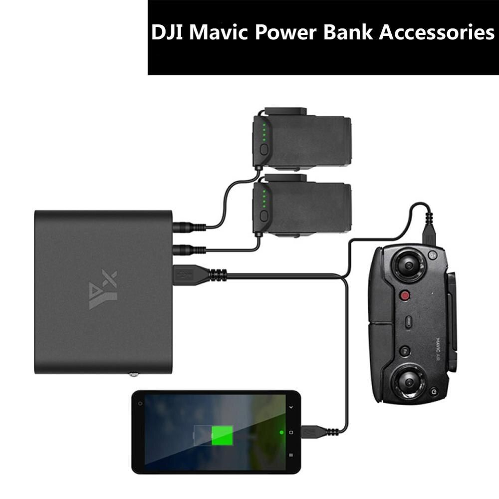 DJI Mavic Air Power Bank Tragbare Ladegerät USB Mobile Power Intelligente Batterie Lade Für LUFT Quadcopter Konverter Zubehör