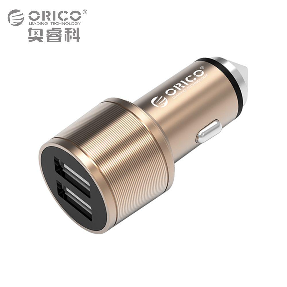 ORICO UCI-2U En Aluminium 2 Ports 5V2. 4 MAX 15.5 W Sortie Mini Portable USB Voyage Chargeur Aussi Une Sécurité marteau-Argent/Or/Brun