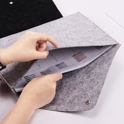 1PC A4 Chemical Felt File Folder Durable Briefcase Document Bag Filing Products Stationery School Office Supplies