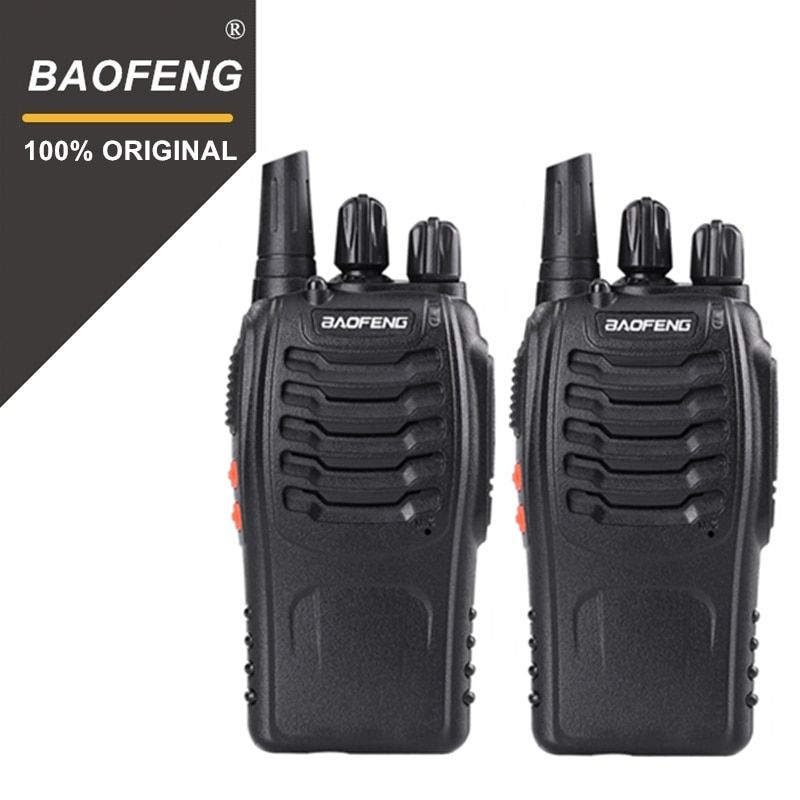 2PCS 100% Original Baofeng 888S Walkie Talkie Portable Radio Hotel Communicator Handheld Transceiver Cb Radio BF-888S Station