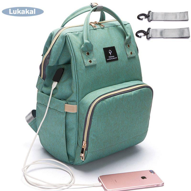 2019 USB Interface Mummy Bag Backpack Large Capacity WaterProof Baby Diaper Bag Maternity Carry Bolsa Luiertas Bag For Baby Care