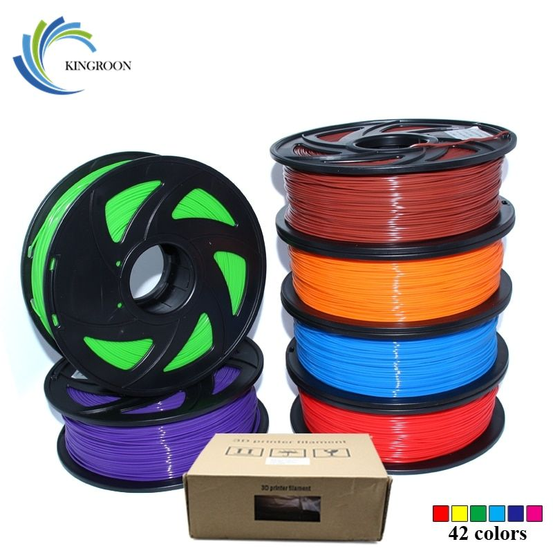 PLA 1.75mm Filament 1KG Printing Materials Colorful For 3D Printer Extruder Pen Rainbow Plastic <font><b>Accessories</b></font> Black White Red Gray