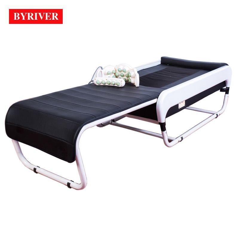BYRIVER 2018 Beste 3D Elektrische Massage Bett Korea V3 APMS Auto Wirbelsäule Scan Thermische Zurück Strectcher Massager Rutsche Faltbare Design