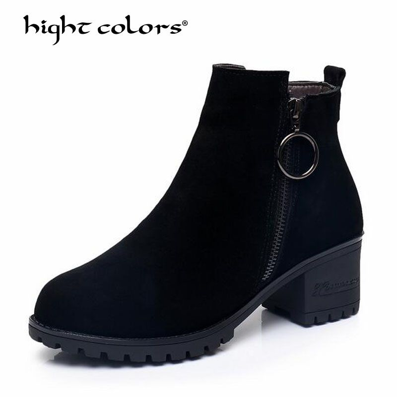 Fashion Warm Snow Boots 2018 Heels Winter Boots New Arrival Women Ankle Boots Women Shoes Warm Fur Plush Insole Shoes Woman Y-32