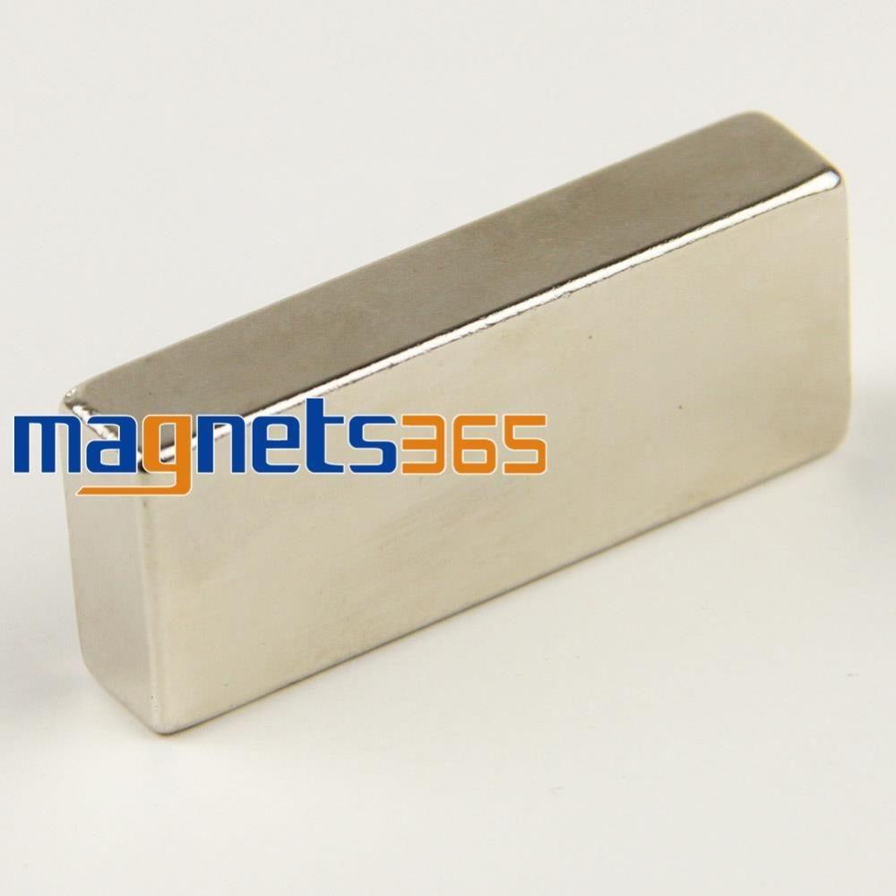 OMO Magnétisme 1 PC Big Vrac Super Strong Bande Bloc Magnets Rare terre Néodyme 50x20x10mm N35 Livraison Gratuite