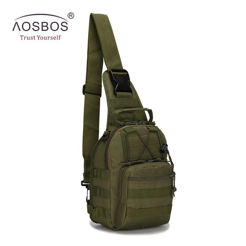 Sacs de Sport imperméables Aosbos sac tactique militaire petit sac de poitrine Camouflage avec sac de Camping de randonnée de voyage en plein air Molle