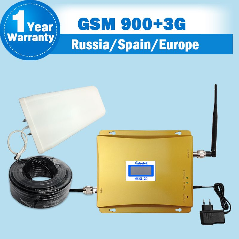 Lintratek GSM900 3G 2100 Cellular Signal Repeater 2G GSM 3G UMTS ALC Dual Band Cell Amplifier 900mhz 2100mhz Mobile Booster S50