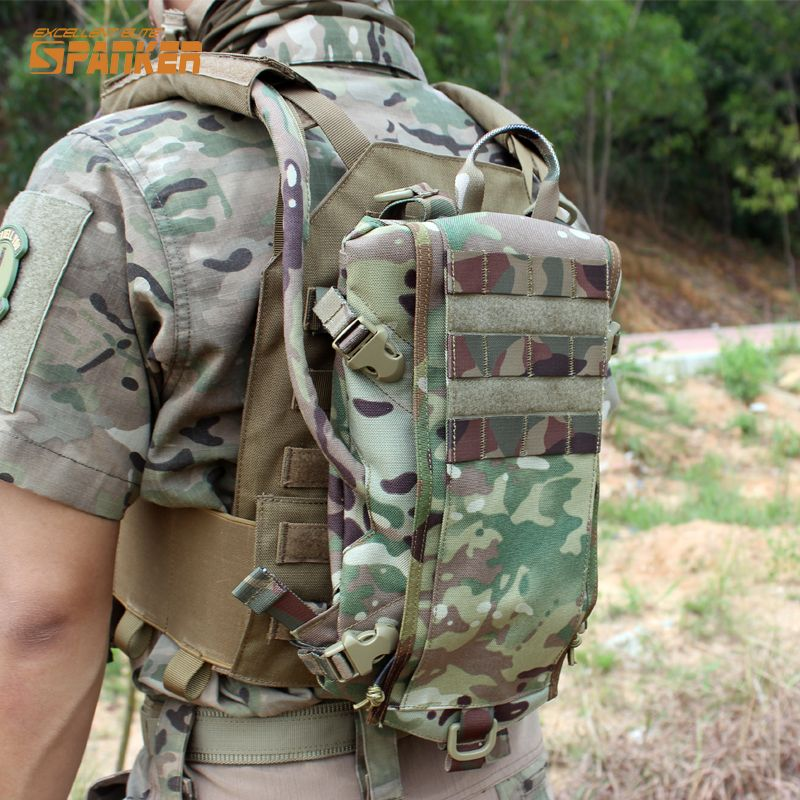Tactical Outdoor Molle Hydration Carrier Armor Water Bag Backpack Hunting Paintball Quick-opening Equipment