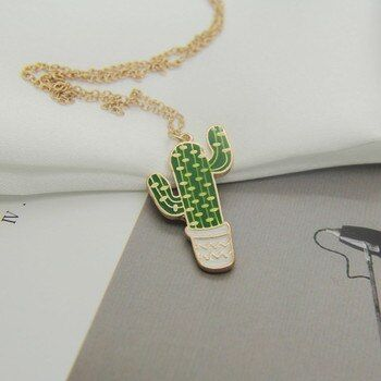Timlee N009 Free shipping New  Fashion Cactus  Pendant Necklaces Wholesale