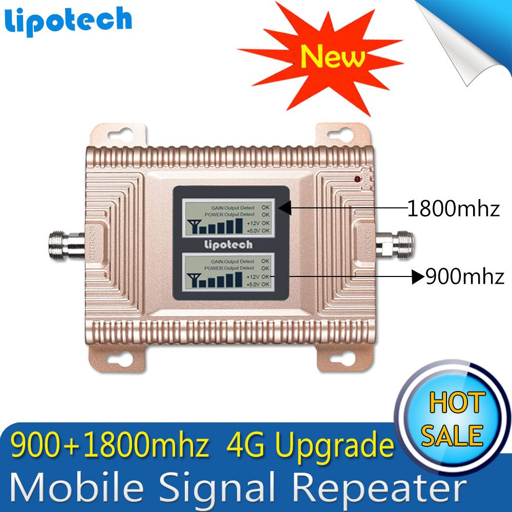 GSM 4G Repeater Band 3 Dual Band Mobile Signal Booster 70dB GSM 900 1800 4G LTE 1800mhz Cell Phone Cellular Repeater Amplifier
