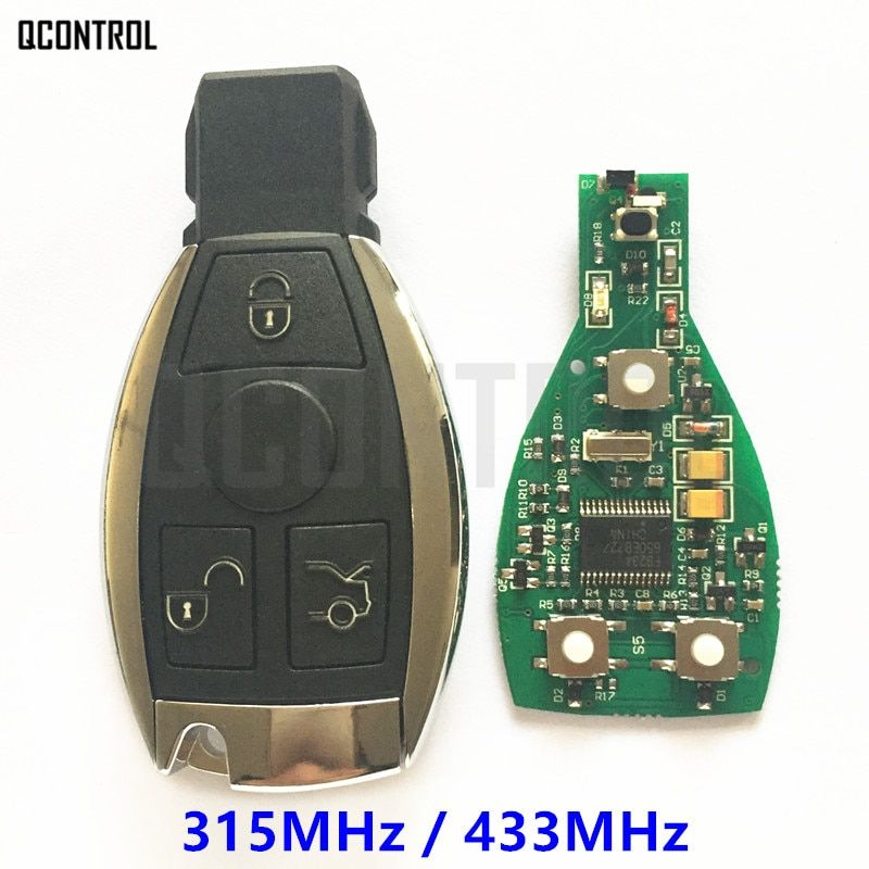 QCONTROL Smart Infrared Key for Mercedes Benz Supports NEC and BGA type Car Remote Controller Year 2000 -