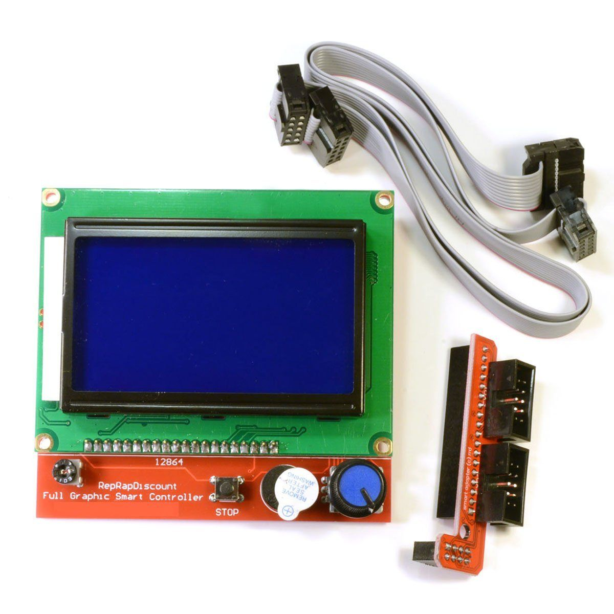 Full Graphic Smart Controller LCD Display for RAMPS 1.4 <font><b>RepRap</b></font> 3D Printer Electronics (12864 display with SD card reader)