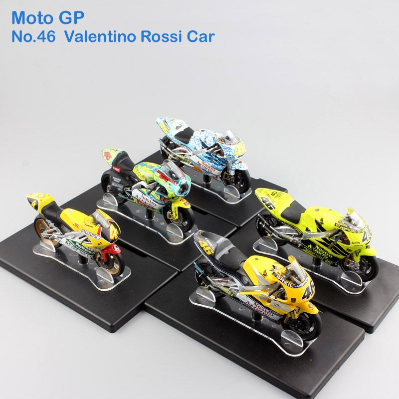 1:18 scale Leo No.46 Valentino Rossi MotoGP Factory Racing Honda Aprilia Yamaha Championship Diecast model motorcycle kids toys