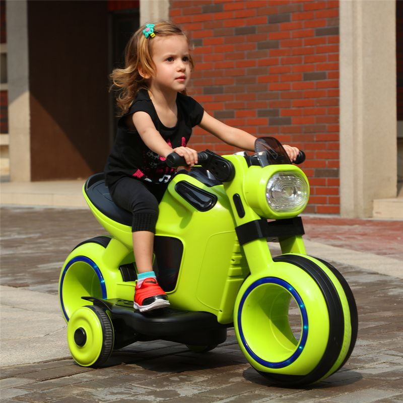 Children's electric dual drive motorcycle large tricycle Boy girl aged 3-6 Can sit baby kid toy charging bottle baby carriage