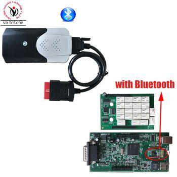 Новый VCI (2015 R3 Keygen CD) VD TCS CDP PRO с bluetooth инструмент диагностики для Авто/грузовики OBD2 сканер один год гарантии