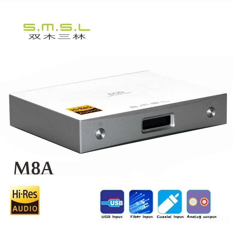 2018 SMSL M8A DAC DSD512/768kHz HIFI Audio Decoder Amplifier USB Receive XCroe200 Xu208+ES9028Q2M Coaxial/XMOS Asynchronous