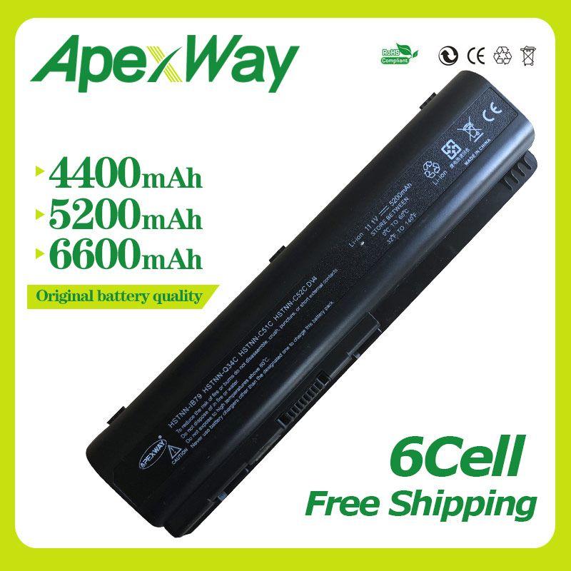Apexway Батарея для hp Presario G50 CQ41 CQ45 для Pavilion dv6-2100 HSTNN-IB72 HSTNN-IB73 HSTNN-IB79 HSTNN-LB72 HSTNN-LB73