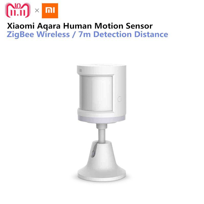 Original Xiaomi Aqara Smart Home Human Body Sensor Security Device with Holder Stand Movement Sense Light intensity detection