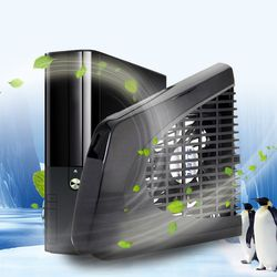 USB Cooling Fan Black USB Side Cooling Fan Specially Designed for Xbox 360 Slim Console L3EF