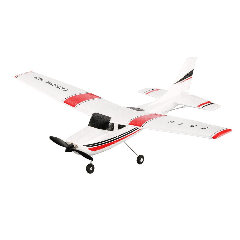 WLtoys F949 3 Channel 2.4GHz Radio Control RC Airplane Fixed Wing RTF CESSNA-182 Plane Outdoor Drone Toy for Ages 14+ Kids Gift