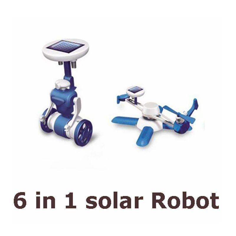Offre spéciale nouveaux jouets de Puzzle solaire bricolage pour enfants 6in1 Kits éducatifs d'énergie solaire nouveauté Robots solaires pour enfants cadeau d'anniversaire