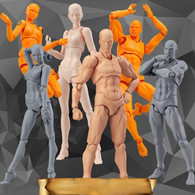Doub K Action Figure Toys Artist Movable Limbs Male Female 13cm joint body <font><b>Model</b></font> Mannequin bjd Art Sketch Draw Figures new style