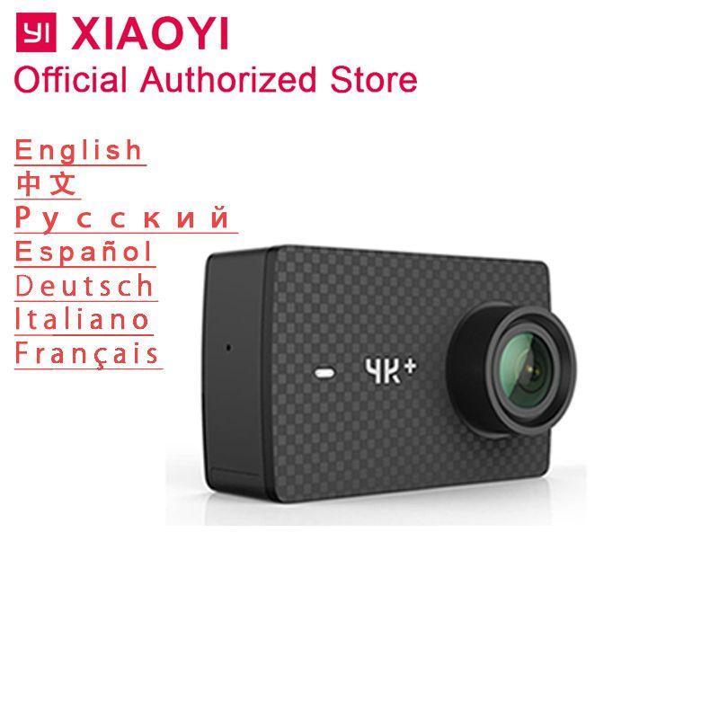 Xiaomi Yi 4 karat Plus Action Kamera Sport Cam Outdoor Kamera Bildschirm Wifi Bluetooth Weitwinkel Objektiv Touchscreen Camaras 4 karat + TF Slot