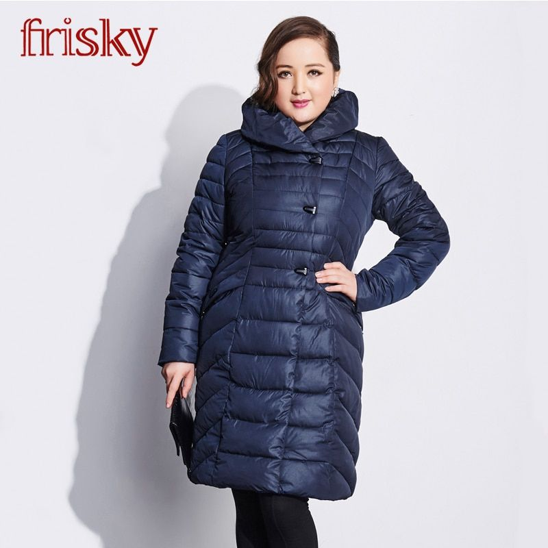 Friksy 2018 Long Winter Women's Leisure Jacket Coat Thickening Plus Size windproof Women's Fashion Women Jacket FR-2765