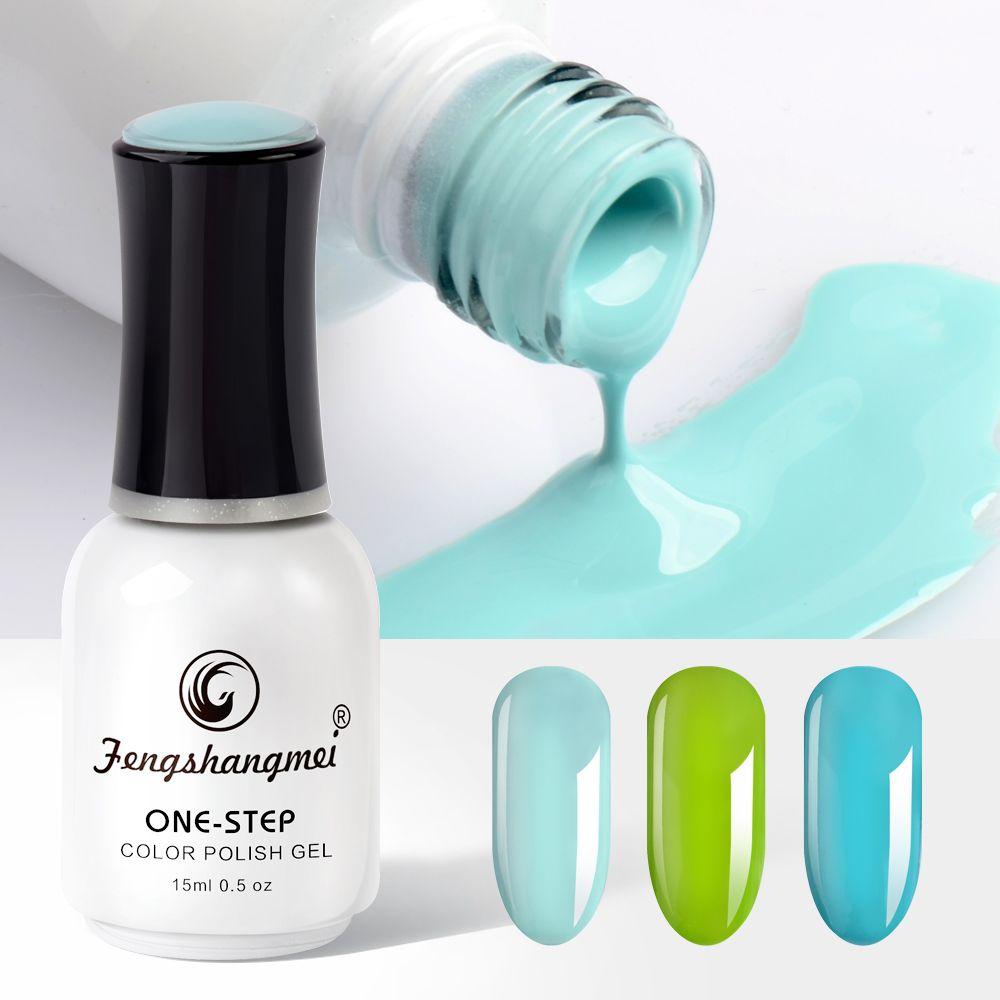 Fengshangmei imbiber le Gel d'ongle gel en une étape longue durée Art d'ongle 30 couleurs de beauté Gel de Maniure d'ongle 15 ML