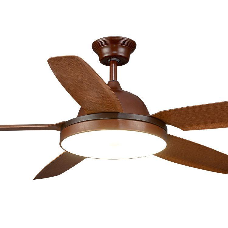 56 zoll Esszimmer Decke fan licht Mit fernbedienung Europäischen Fan Lampe Wohnzimmer Holz Decke Fan Licht Bronze
