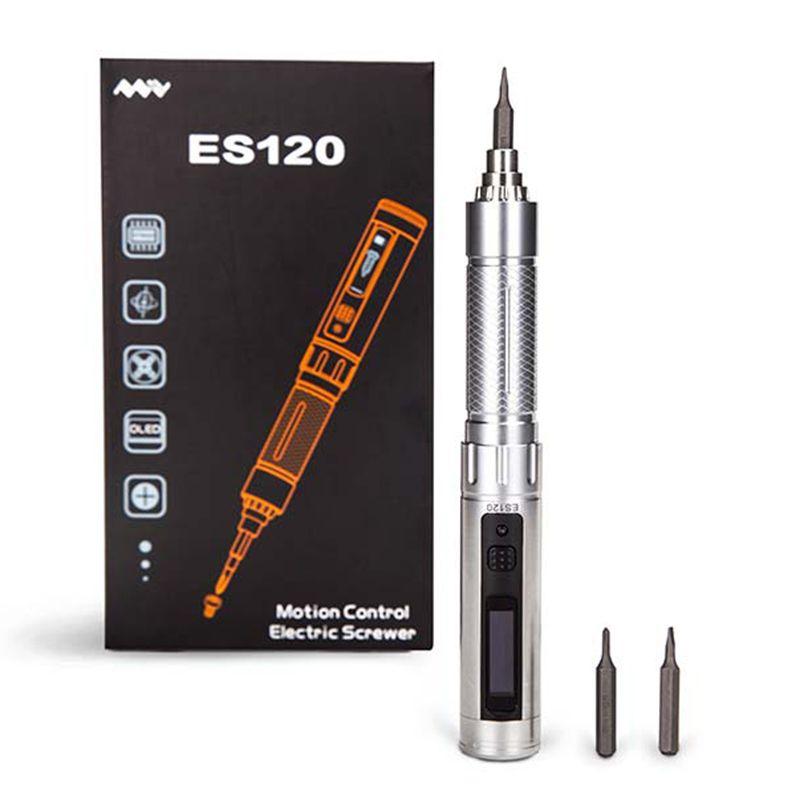 1/8 aufladbaren Schnurlose ES120 Elektrische Motion Control Schraubendreher Mit Led-Licht Silber