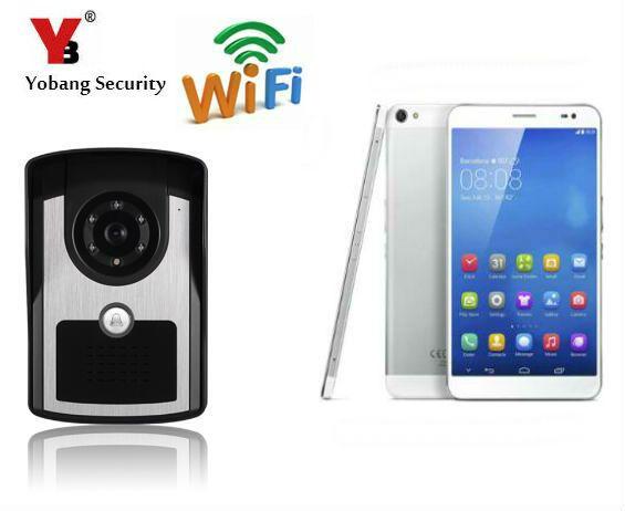 YobangSecurity Wifi Inalámbrico Video de La Puerta Del Timbre Del Teléfono del Sistema de Intercomunicación de La Visión Nocturna HD 720 P Apoyo APP