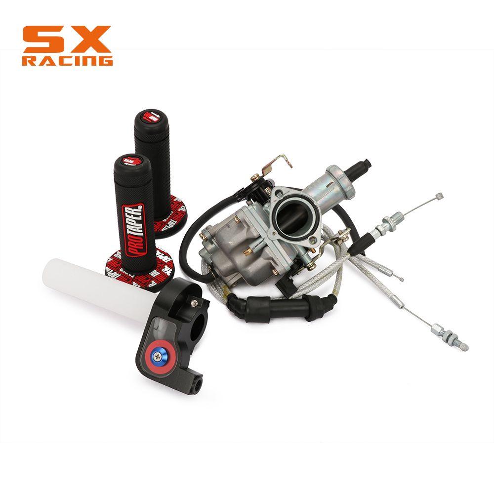 Russie PZ30 30MM accélération pompe Tuning puissance Jet carburateur + Visiable Twister + double renforcé câble + poignées moto