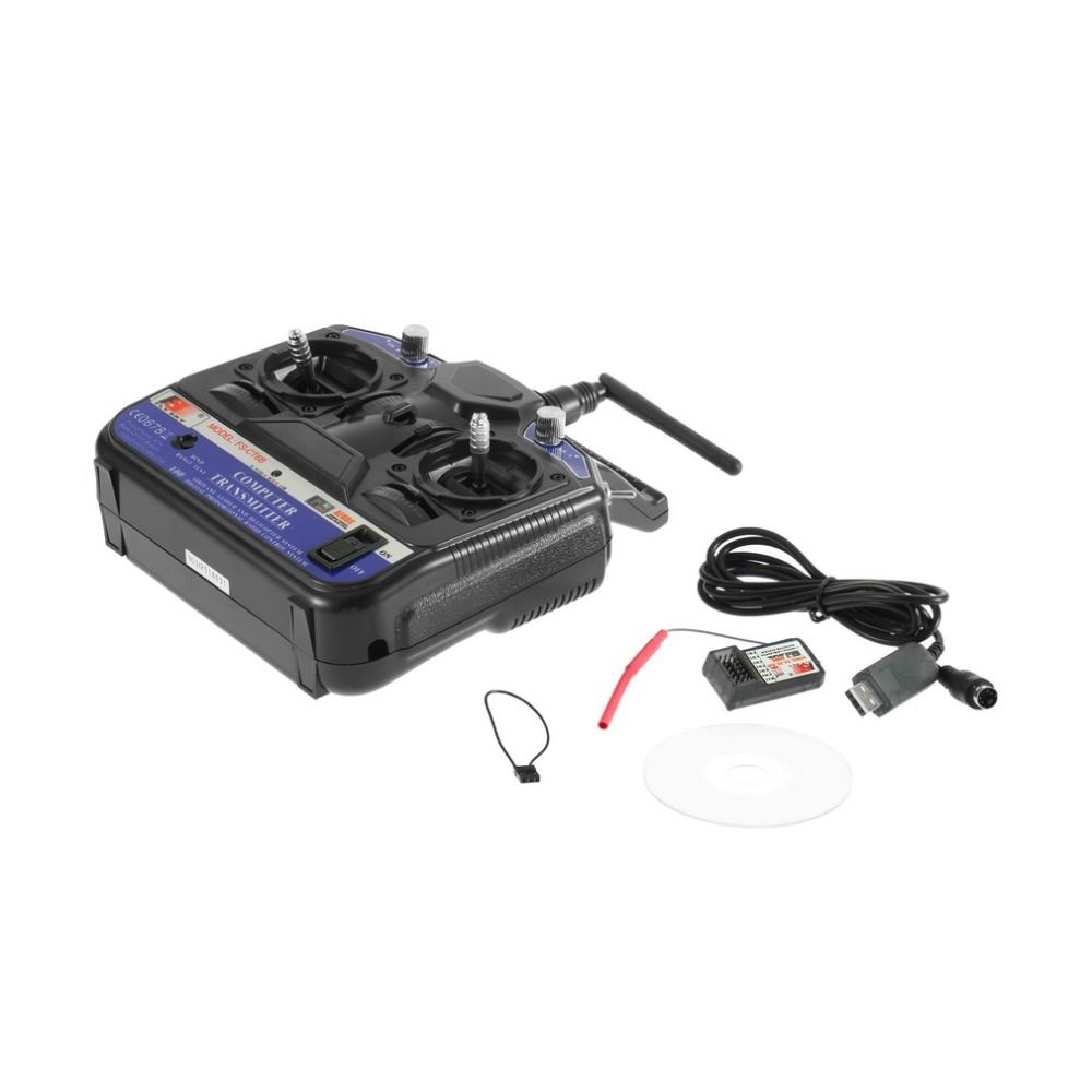 FLY SKY 2.4G FS-CT6B 6 Channels Transmitters Model RC Receiver Stability Control For Airplane Helicopter Glider UAV Accessories