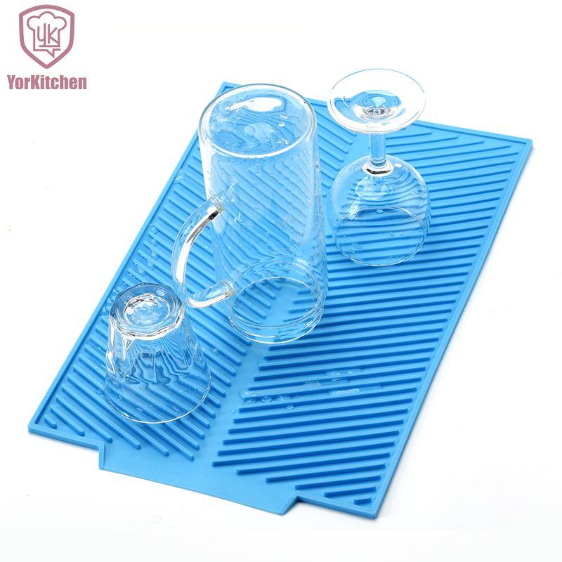 39*25 CM 43*33 CM carré Silicone grand Durable FDA approuvé pas cher plat séchage tapis livraison gratuite