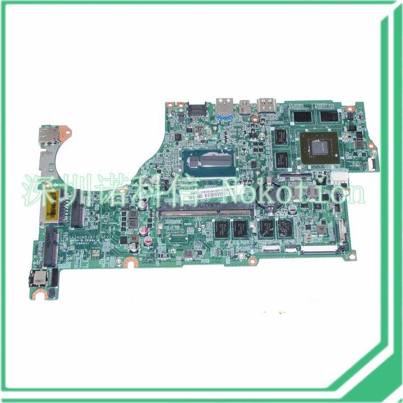 NOKOTION DAZRQMB18F0 REV F NBMCC11001 NB.MCC11.001 For acer aspire V5-573 V5-573G Motherboard GeForce GT750M+i5-4200U