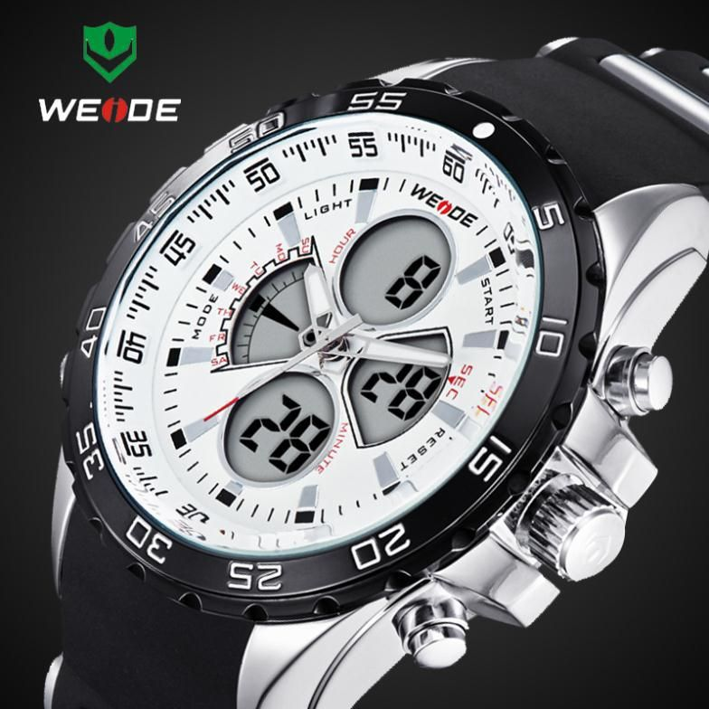 2016 New WEIDE Fashion Led Digital Quartz Watches Men Military Sports Watch Waterproof Male <font><b>Wrist</b></font> watches Relogio Masculino