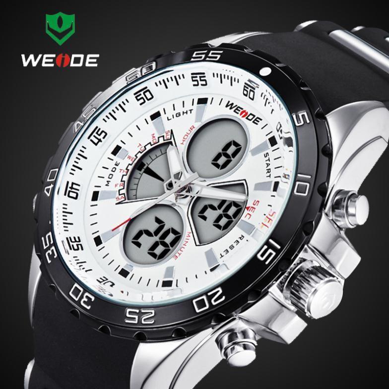 2016 New WEIDE Fashion Led <font><b>Digital</b></font> Quartz Watches Men Military Sports Watch Waterproof Male Wrist watches Relogio Masculino